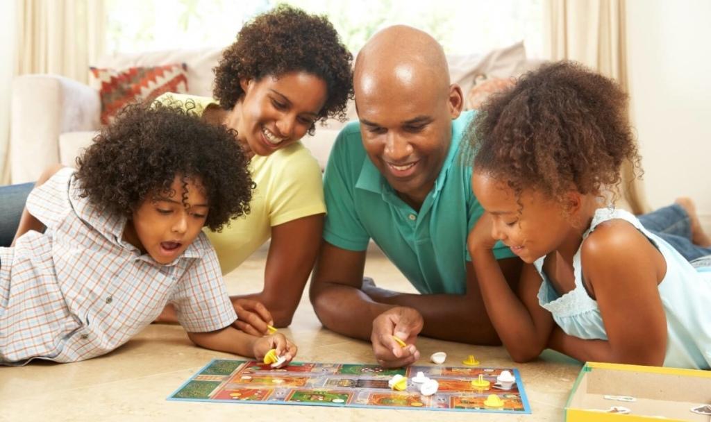 family bonding spending time together