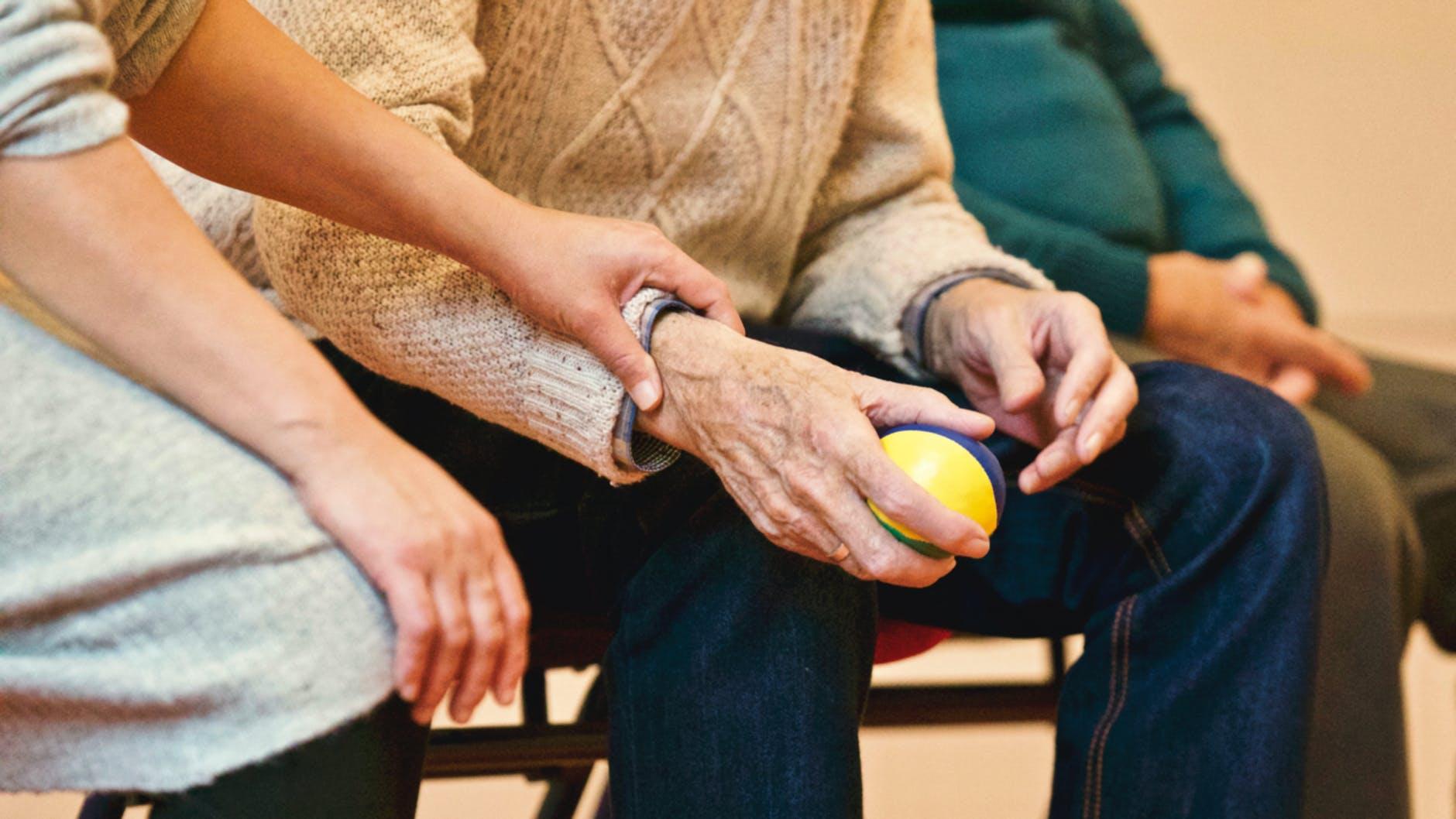 child caring for elderly