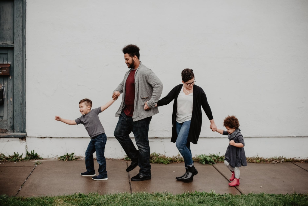 Family outdoors, free day out